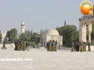 Jan 29 2013 Female Israeli Soldiers March through Aqsa Compound - Photo by QudsMedia 16