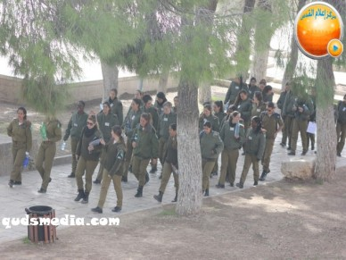 Jan 29 2013 Female Israeli Soldiers March through Aqsa Compound - Photo by QudsMedia 30