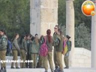 Jan 29 2013 Female Israeli Soldiers March through Aqsa Compound - Photo by QudsMedia 32