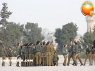 Jan 29 2013 Female Israeli Soldiers March through Aqsa Compound - Photo by QudsMedia 33