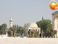 Jan 29 2013 Female Israeli Soldiers March through Aqsa Compound - Photo by QudsMedia 34
