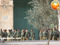 Jan 29 2013 Female Israeli Soldiers March through Aqsa Compound - Photo by QudsMedia 37