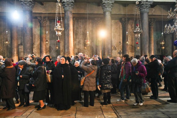 Jan 6 2013 Greek Patriarch Christmas liturgy in the Nativity Church – Bethlehem