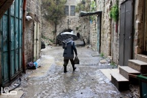 Jan 8 2013 Floods and landslides in Nablus Photo by SAFA
