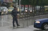 Jan 8 2013 Jenin - Policeman regulates traffic in Jenin Photo by Seif Dahleh 2