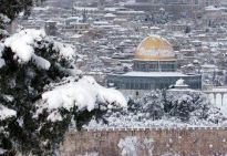 Jan 9 2012 Jerusalem Snow in Palestine - Photo via PalToday