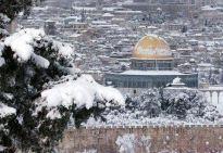 Jan 9 2012 Jerusalem Snow in Palestine - Photo via PalToday