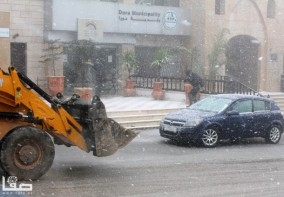 Jan 9 2013 Hebron suffers extreme weather and snow Photo by Safa