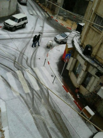 Jan 9 2013 Ramallah in Snow - Photo via Paldf 10