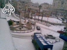 Jan 9 2013 Ramallah in Snow - Photo via Paldf