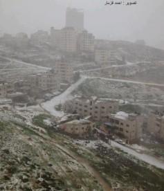 Jan 9 2013 Ramallah in Snow - Photo via Paldf
