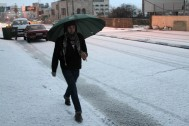 Jan 9 2013 - Snow in Bethlehem - Photo by WAFA 2
