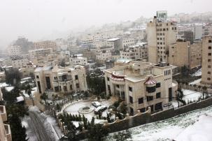 Jan 9 2013 Snow in Palestine -West Bank - Photo by PalToday