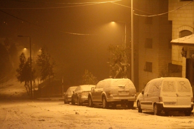 Jan 9 2013 - Snow in Ramallah Palestine - Photo by WAFA