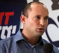 "Bennett, has claimed that Israelis ""cannot have peace with the Palestinians""."