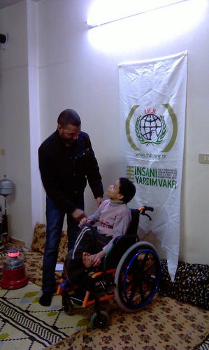 April 11, 2011 IHH donates wheelchairs to disabled in Gaza