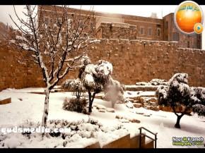Snow in Palestine - Snow in Jerusalem Photo via QudsMedia - 13