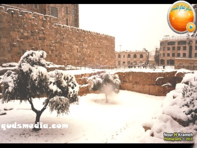 Snow in Palestine - Snow in Jerusalem Photo via QudsMedia - 15