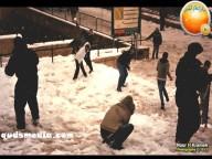 Snow in Palestine - Snow in Jerusalem Photo via QudsMedia - 22
