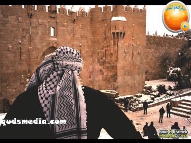 Snow in Palestine - Snow in Jerusalem Photo via QudsMedia - 23