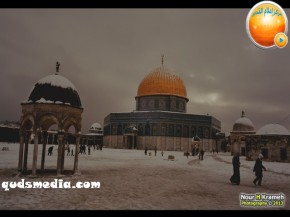Snow in Palestine - Snow in Jerusalem Photo via QudsMedia - 24