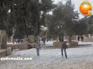 Snow in Palestine - Snow in Jerusalem Photo via QudsMedia - 33