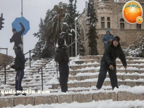 Snow in Palestine - Snow in Jerusalem Photo via QudsMedia - 35