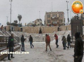 Snow in Palestine - Snow in Jerusalem Photo via QudsMedia - 36