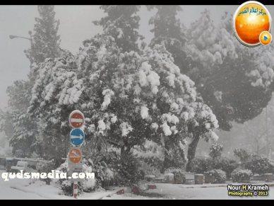 Snow in Palestine - Snow in Jerusalem Photo via QudsMedia - 37