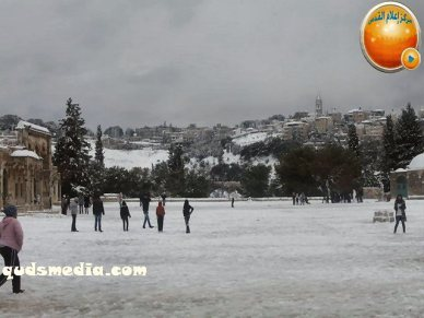 Snow in Palestine - Snow in Jerusalem Photo via QudsMedia - 48
