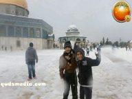 Snow in Palestine - Snow in Jerusalem Photo via QudsMedia - 52