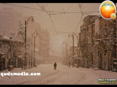 Snow in Palestine - Snow in Jerusalem Photo via QudsMedia - 6
