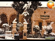 Snow in Palestine - Snow in Jerusalem Photo via QudsMedia - 7
