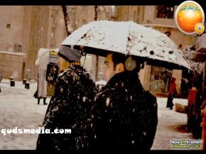 Snow in Palestine - Snow in Jerusalem Photo via QudsMedia - 8