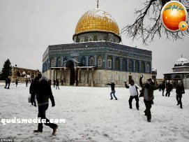 Snow in Palestine - Snow in Jerusalem Photo via QudsMedia - 80