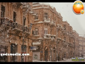 Snow in Palestine - Snow in Jerusalem Photo via QudsMedia - 9