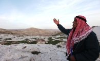 Zakaria Abu Jumaa, landowner threatened seizure of Bab al Shams -Gate of the Sun - Photo by  Mohamed Farrag 5
