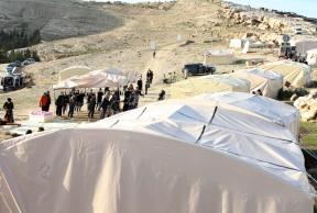 Jan 12, 2013 - Zakaria Abu Jumaa, landowner threatened seizure of Bab al Shams -Gate of the Sun - Photo by Mohamed Farrag