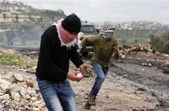 File photo of clashes in the West Bank (Reuters)