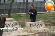 Febr 14 2013 Racist slogans on Jerusalem cenetery - Photo by QudsMedia 18