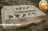 Febr 14 2013 Racist slogans on Jerusalem cenetery - Photo by QudsMedia 27