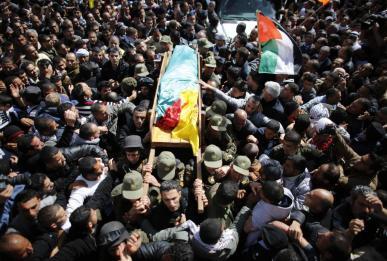 Febr 25 2013 Funeral Arafat Jaradat tortured to death by Israel - Photo by Ammar Awad 4