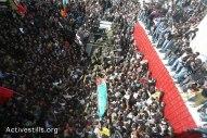 Febr 25 2013 Funeral Arafat Jaradat tortured to death by Israel - Photo by Yotam Ronen - ActiveStills - 2