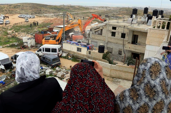 Febr 5 2013 Beit Hanina Home Demolition Palestine - Photo by WAFA 8