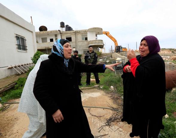 Febr 5 2013 Beit Hanina Home Demolition Palestine - Photo by WAFA 9