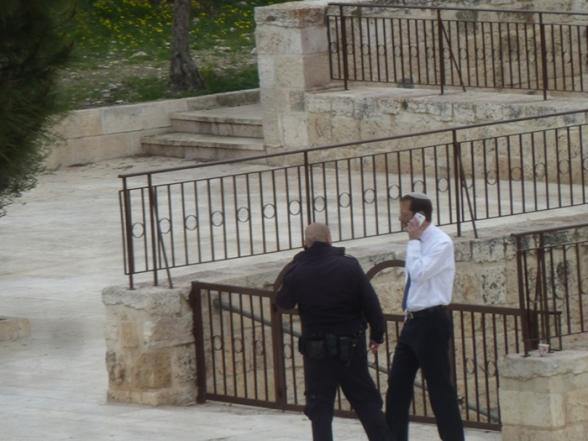 Israeli MK Moshe Feiglin storms al-Aqsa Mosque - Photo by WAFA
