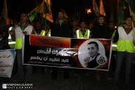 Khan Younis- Protest marches and grieve about the martyrdom of captive Arafat Jaradat - Febr 24 2013 - Photo by Ramadan Elagha
