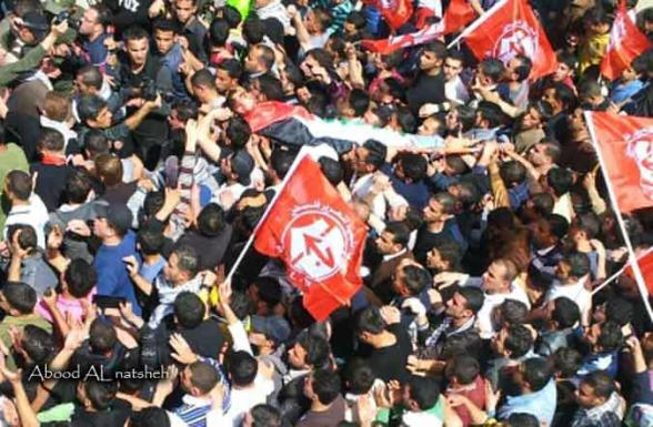 The funeral of Shaheed at-Tir - Photo by Abood Al Natsheh