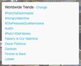 #hungryvalentine Trending on Feb14