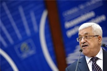 Mahmoud Abbas addresses the Parliamentary Assembly of the  Council of Europe in Strasbourg, France, on October 6, 2011.  (AFP/Frederick Florin)